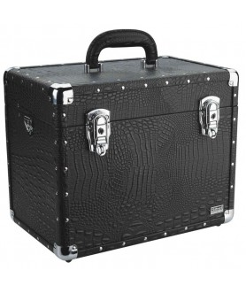 CROCO TOUCH BEAUTY CASE 36X23X29CM ZWART SIBEL