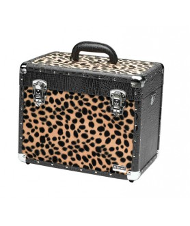 BLACK CROCO & LEOPARD BEAUTY CASE 36X23X29CM SIBEL